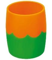 Стакан д/письм.принадл.СТАММ Двухцветный зелено-оранжевый купить оптом и в розницу