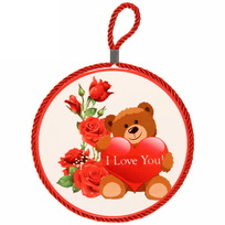 Подставка керамическая 16 см ″Мишка с цветами″ купить оптом и в розницу