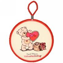 Подставка керамическая 16 см ″Мишка с сердечком″ купить оптом и в розницу