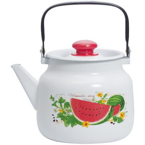 Чайник эмалированный 3,5л ″Арбузный фреш″ купить оптом и в розницу