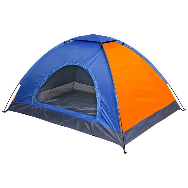 Палатка туристическая 2-местная 1-слойная ТУРИСТ МАСТЕР, цвет сине-оранжевый, 200*150*100 купить оптом и в розницу