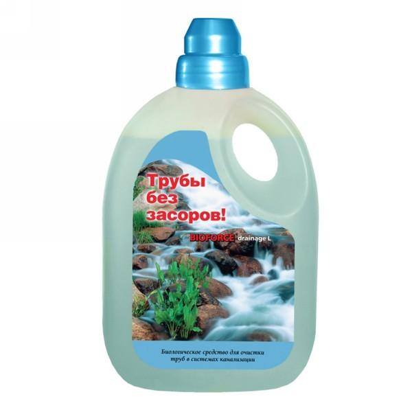 Биопрепарат BIOFORCE Drainage L (1000мл) Для эффективной очистки канализационных труб купить оптом и в розницу