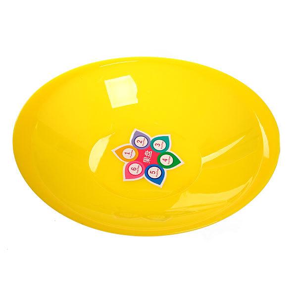 Салатник пластиковый ″Серпантин″ 24 см желтый купить оптом и в розницу