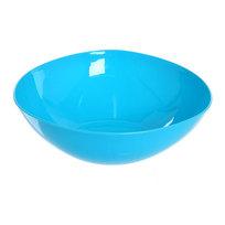 Салатник пластиковый ″Серпантин″ 24 см голубой купить оптом и в розницу