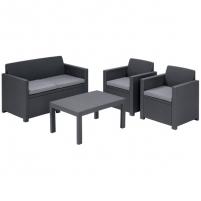 Набор мебели Merano (2 стула, диван, стол)  коричневый/бежевый/с подушками купить оптом и в розницу
