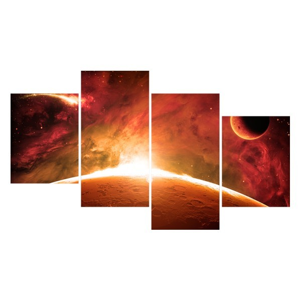 Картина модульная полиптих 60*129 Космос диз.8 85-03 купить оптом и в розницу