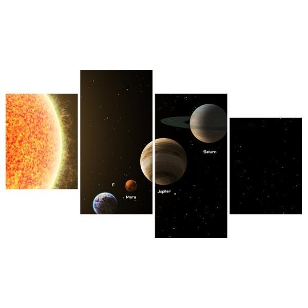 Картина модульная полиптих 60*129 Космос диз.9 87-03 купить оптом и в розницу