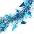 Мишура новогодняя 2 метра 6см ″Елочки″ синий купить оптом и в розницу