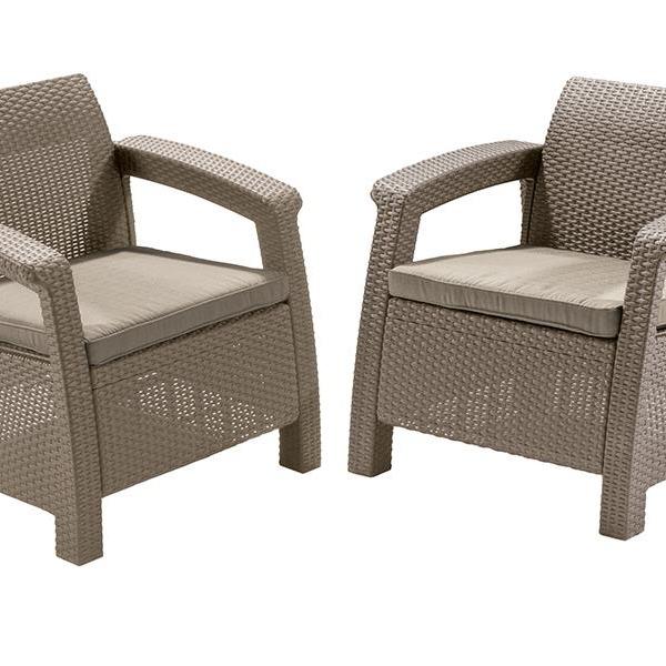 Комплект садовой мебели (2 кресла)   Yalta Duo   Цвет слоновая кость купить оптом и в розницу