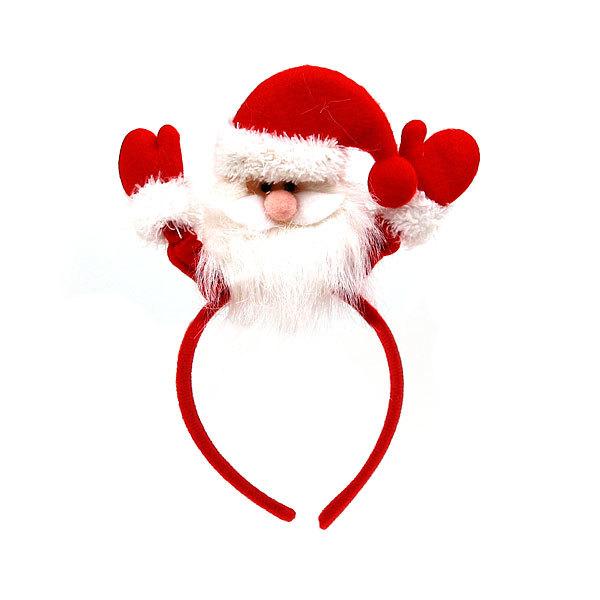Ободок карнавальный ″Дед Мороз″ меховой колпак 29*17см купить оптом и в розницу