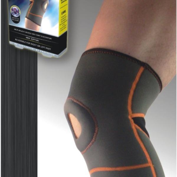 Неопреновый фиксатор колена с открытой коленной чашечкой купить оптом и в розницу
