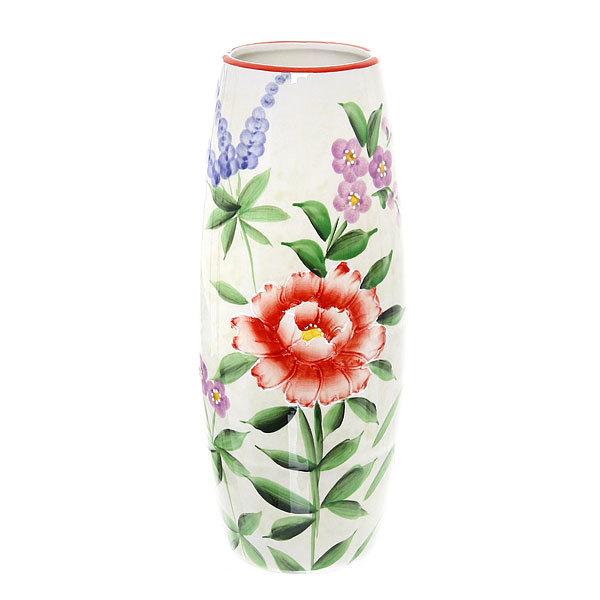 Ваза керамическая ″Розы″ овальная 25 см купить оптом и в розницу