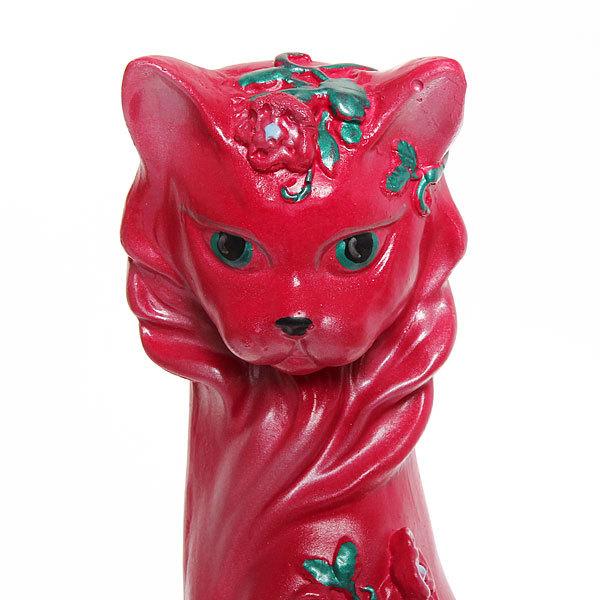 Статуэтка из гипса ″Кошка Цветы (фуксия), 42см. купить оптом и в розницу