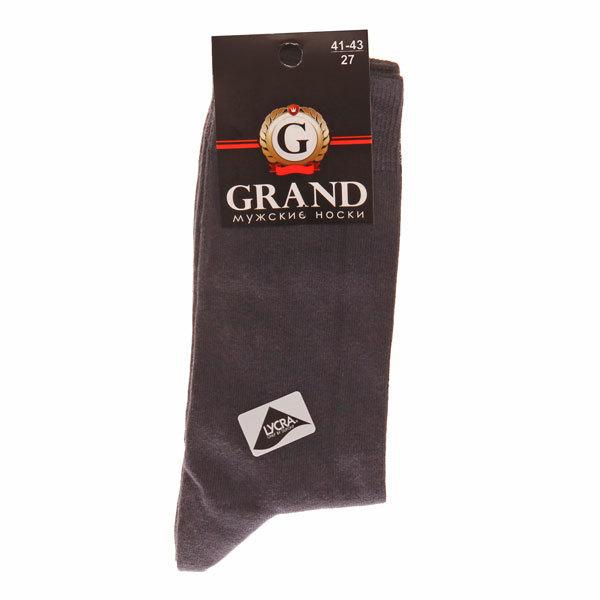 Носки мужские GRAND (М-105), тёмно-серый, р. 27 купить оптом и в розницу