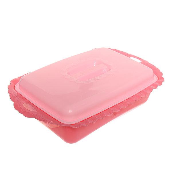 Салатник пластиковый с крышкой 25*37*7см 7731 купить оптом и в розницу