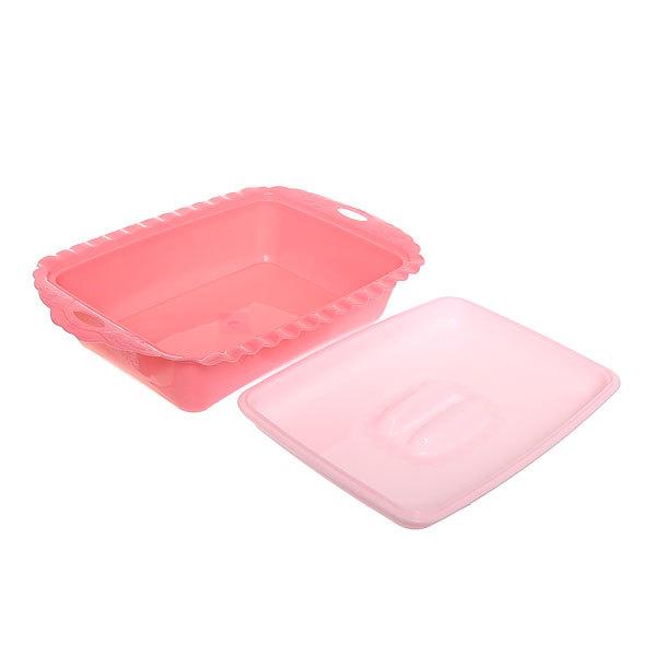 Салатник пластиковый с крышкой 25*37*7см купить оптом и в розницу