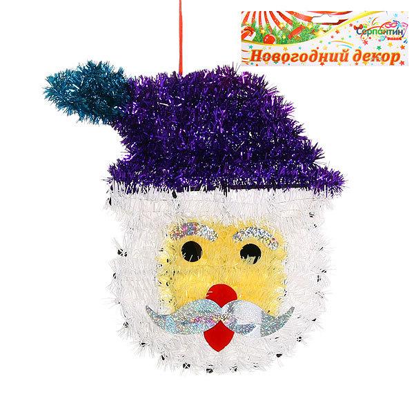 Украшение новогоднее настенное 30*24 см Дед Мороз купить оптом и в розницу