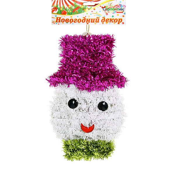 Ёлочная игрушка повеска 15*10см ″Новогодний снеговичок″ купить оптом и в розницу