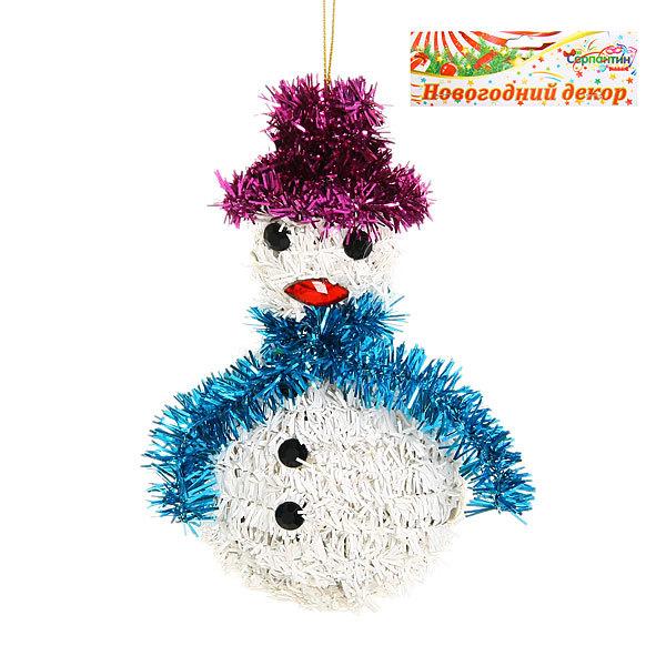 Ёлочная игрушка- подвеска 16*9см ″Снеговик ″ купить оптом и в розницу