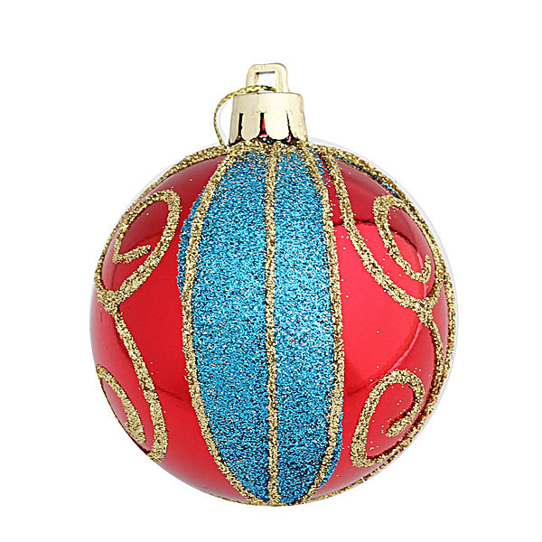 Новогодние шары ″Зимние узоры″ 6см (набор 6шт.) купить оптом и в розницу