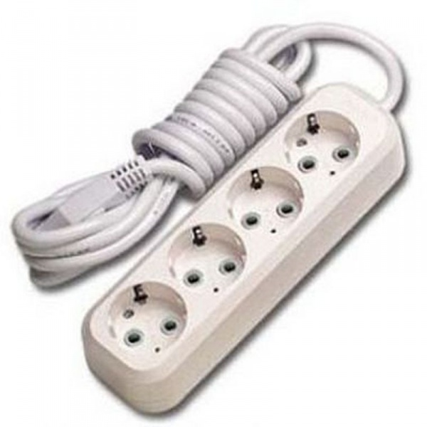Удлинитель электрический 1,7 м/4 роз. с/з (ПВС 3*0,75) (1/25) купить оптом и в розницу