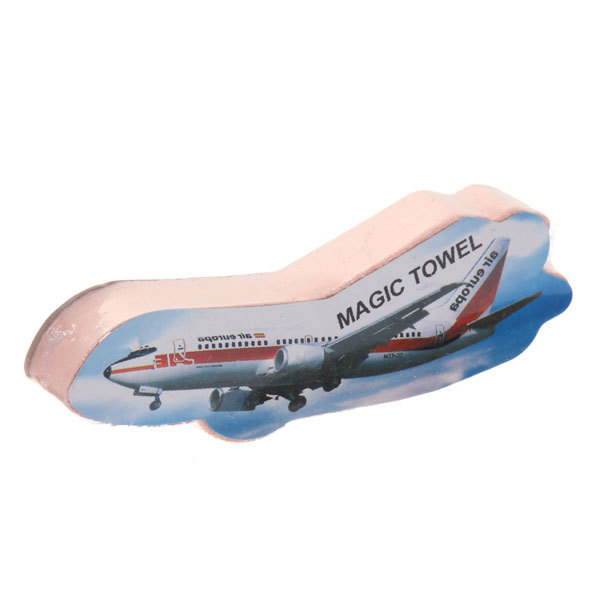 Полотенце прессованное 26*53см Самолет однотонное купить оптом и в розницу