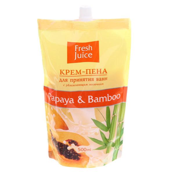 Пена - крем для ванн Fresh Juice (папайя, бамбук), 500 мл купить оптом и в розницу
