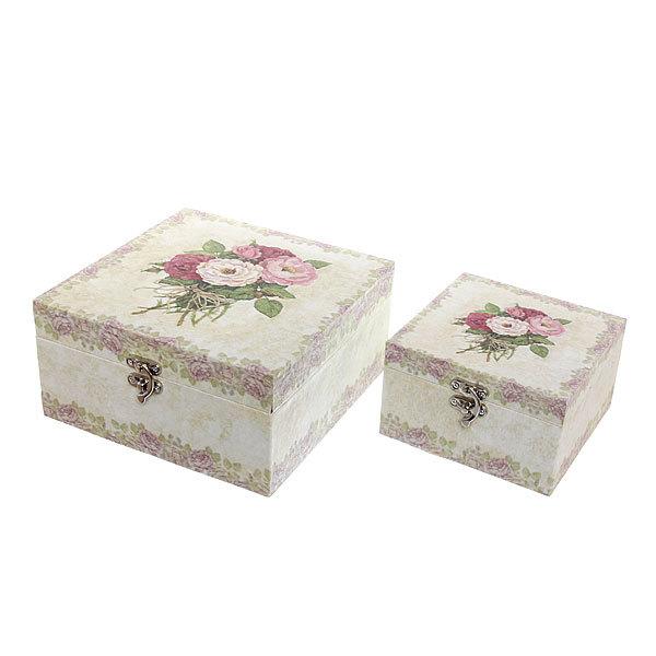 Шкатулка ″Flowers Букет роз″ (набор 2шт) дерево купить оптом и в розницу