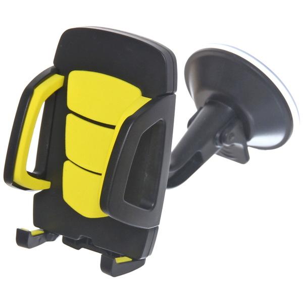 Держатель для телефона автомобильный автоматический, крепление присоска, цвет черный купить оптом и в розницу