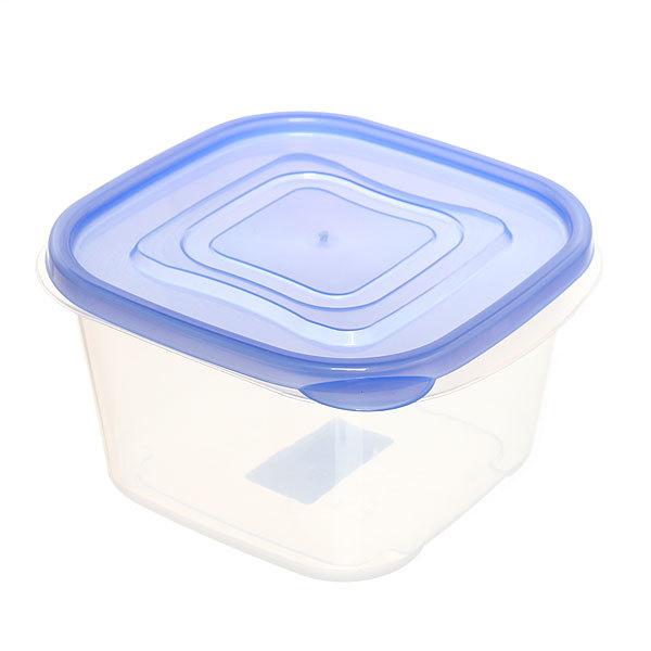 Контейнер пластиковый пищевой 0,97л, квадратный купить оптом и в розницу