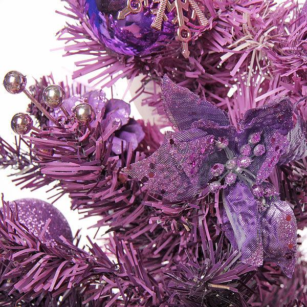 Елка искусственная 40см с украшениями фиолетовый купить оптом и в розницу