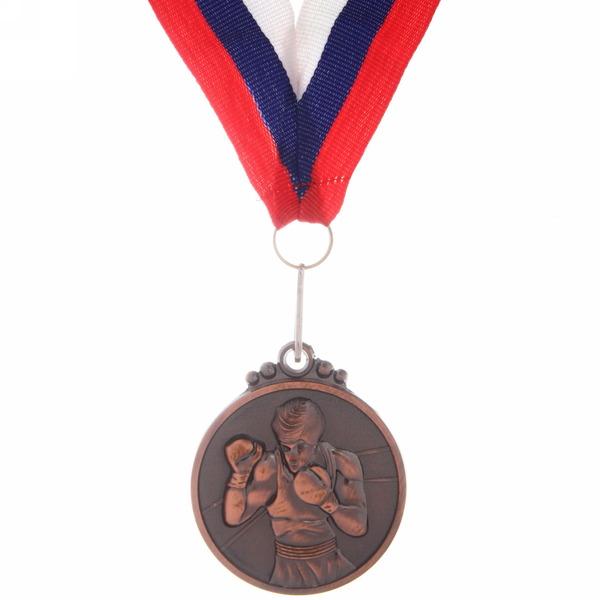 Медаль ″ Бокс ″- 3 место (4,5см) купить оптом и в розницу