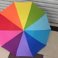 Зонт женский механический ″Радуга″ ветроустойчивый, 10 спиц, d-99см купить оптом и в розницу