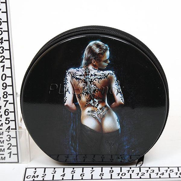 Футляр для CD 24 металл D32 Девушка с татуировкой купить оптом и в розницу