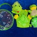 Банный набор в косметичке ″Лягушка″ из 4 различных мочалок купить оптом и в розницу