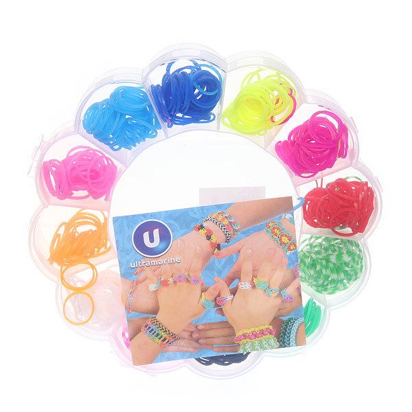 Набор резинок для плетения браслетов 480штук 12 цветов Цветок купить оптом и в розницу