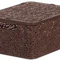 Корзинка кружева М с крышкой (код 5701) коричневый 390 x 290 x 175  *8 купить оптом и в розницу
