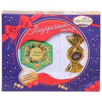 Набор магнит и елочная игрушка-конфетка ″С новым годом!″, Жостовская кошка купить оптом и в розницу