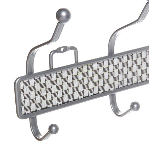 Вешалка настенная 4 крючка 36х16см B-4W купить оптом и в розницу