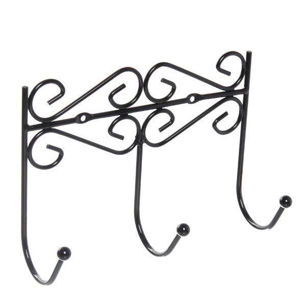 Вешалка настенная 3 крючка 21.5х15см G26-3 купить оптом и в розницу