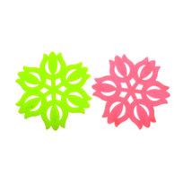 Подставка под горячее силиконовая ″Тюльпаны″ в наборе 2 шт BR015A купить оптом и в розницу