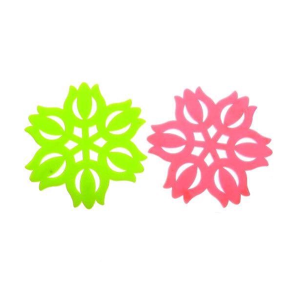 Подставка под горячее силиконовая ″Тюльпаны″ в наборе 2 шт купить оптом и в розницу
