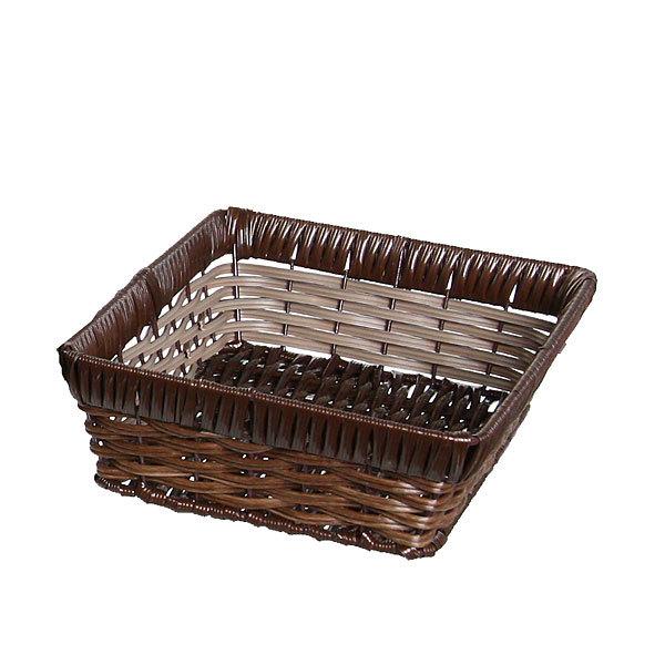Корзинка плетёная в наборе 3 шт прямоугольная темная купить оптом и в розницу