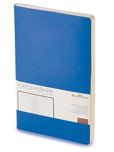 Ежедневник б/дат А5  BV 136л 140*210 MEGAPOLIS FLEX синий купить оптом и в розницу
