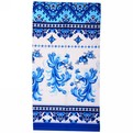 Полотенце вафельное 40*75см ″Жар-птица″ голубое купить оптом и в розницу
