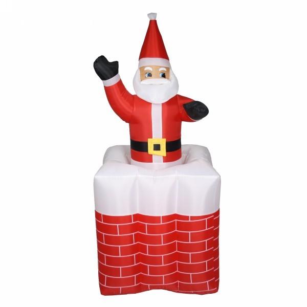 Фигура надувная ″Дед Мороз с сюрпризом″ 70*70*150см купить оптом и в розницу