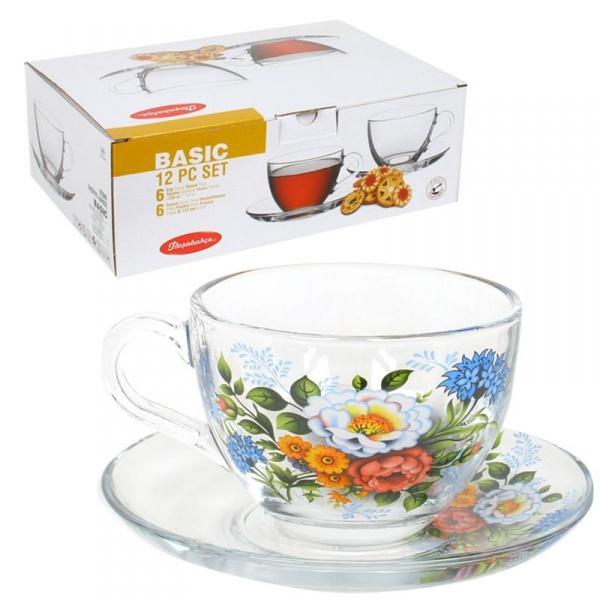 Набор чайный 12пр 215мл Бейзик БОЯРУШКА лепковая деколь (1/4) купить оптом и в розницу