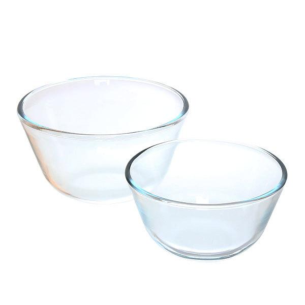 Набор мисок из жаропрочного стекла ″HELPER″ 2 предмета (0,65л; 1,25л) 4524 купить оптом и в розницу