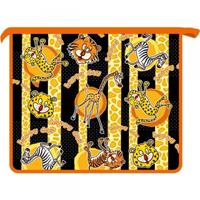 Папка д/тетр.1отдел.на молнии А5 Зоопарк оранжевый купить оптом и в розницу