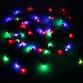 Гирлянда светодиодная 5м,50 лампы LED, Шишки, RG/RB(красный,зеленый/красный,синий), авторежимы, черн.пров. купить оптом и в розницу